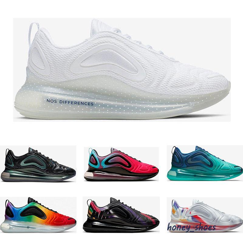 Paquete de burbujas 72C ISPA MENS Zapatos deportivos Triple Negro GS Sea Forest Clean White Aqua CNY 72S Hombres Mujeres Entrenadores Deportes Zapatillas 36-46