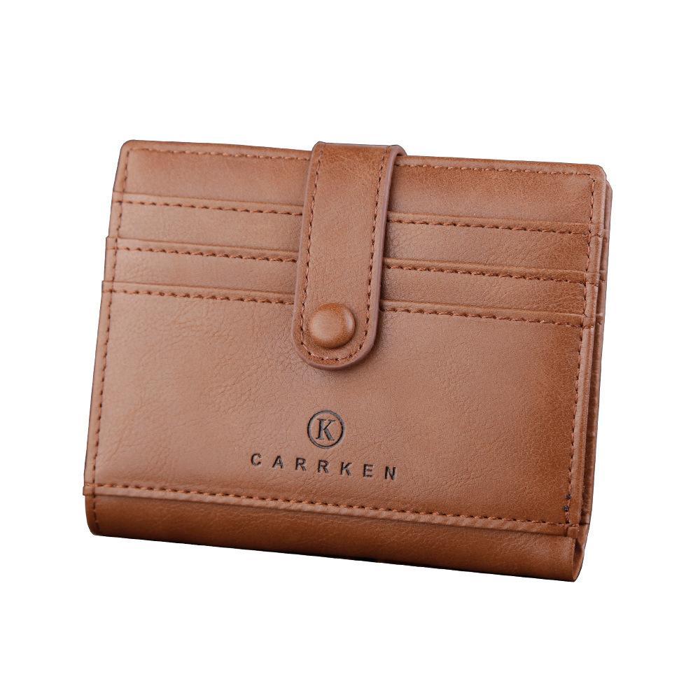 con la bolsa de la tarjeta de hebilla clip de dólar de la billetera de los hombres cortos