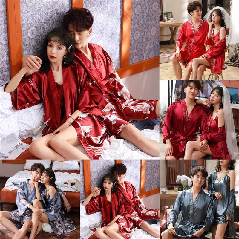 DPLG Casual Plus Size Brautkoralle Nachthemd Bademantel Fleece Warme Liebhaber Dicke Nachtwäsche Bademantel Kleidung Home Sexy Nachthemd Kimono Eis