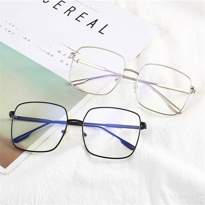Lunettes de soleil Computer Lunettes Cadre Femmes Hommes Anti-Bleu Direction Protection Appartement Miroir Myopia Eyeglasses1