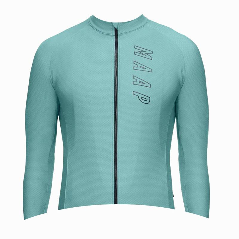 New MAAP Team men cycling jersey bike shirt spring autumn long sleeve bicycle tops racing clothing high quality outdoor sportswear Y20091503