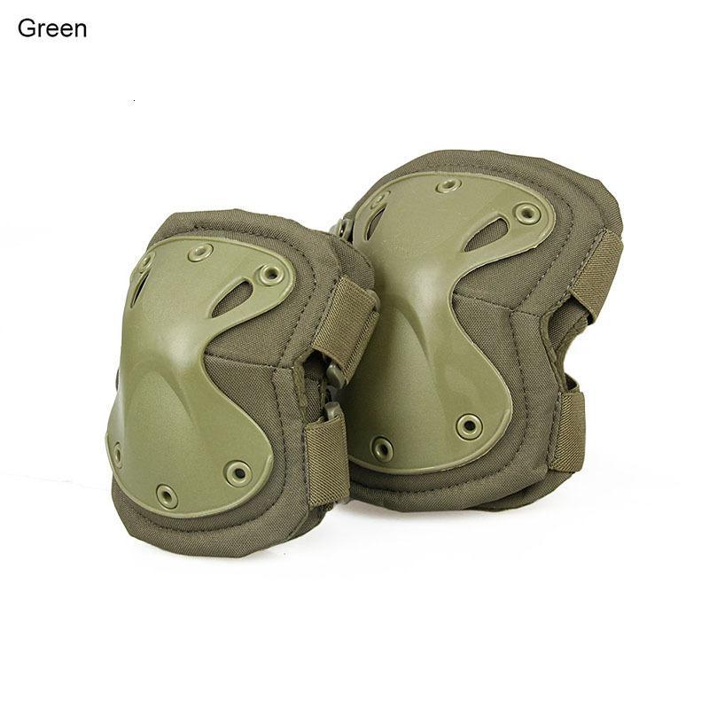 Nueva llegada Tactical X Forma Knee Rodilla Pads protectores Conjunto para deportes al aire libre Envío gratis CL10-0008A