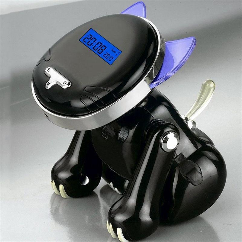 12/24 heures de réveil intelligent numérique pour les chambres avec sauvegarde de la batterie, enfant comme mignon chat voix de téléphone à parler montre pour aveugle LJ201211