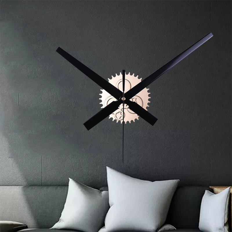 Mecanismo diy do vintage grande relógio de parede casa sala de estar decoração arte design