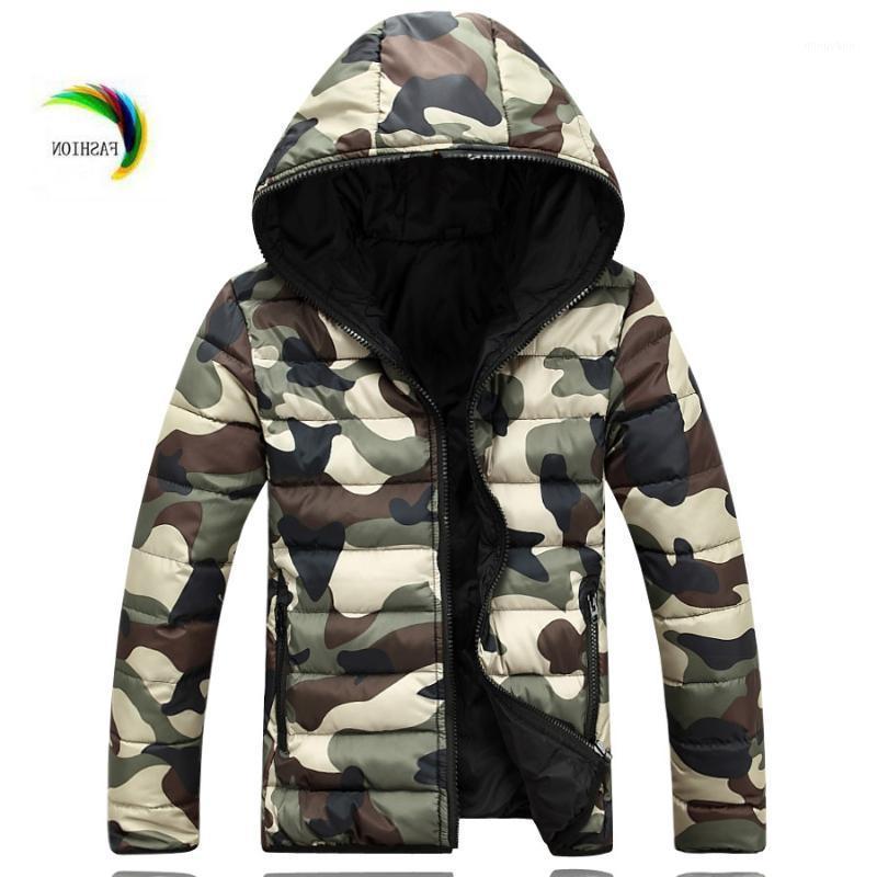 Мужские пустынные Parkas Fall- 2021 мода повседневная с капюшоном хлопчатобумажная толстая тепловая куртка мужчины камуфляж красивые женщины и зимнее пальто размером 5xL