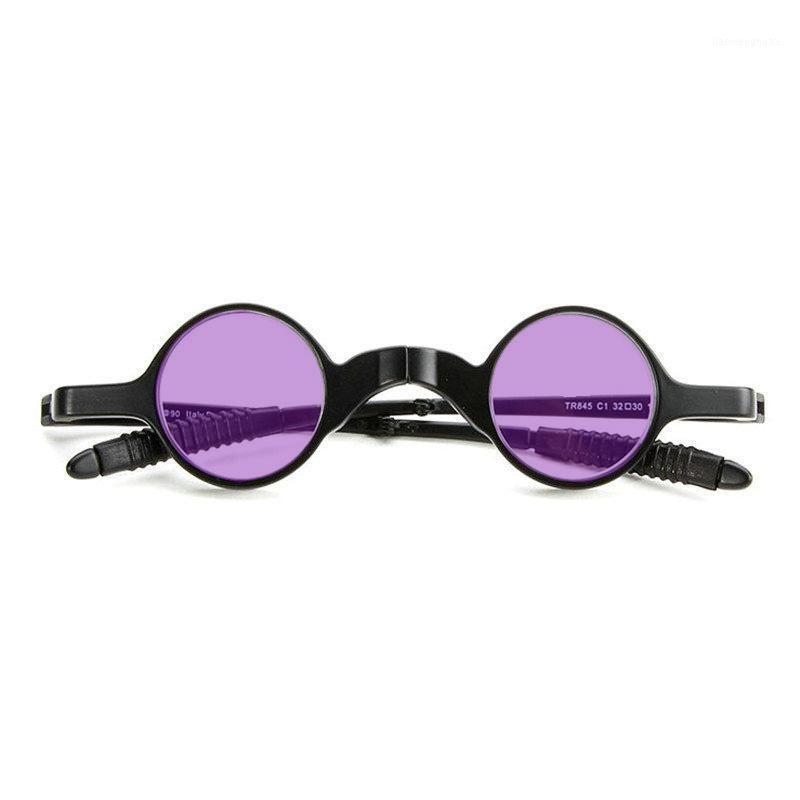 Occhiali da sole pieghevoli rotondi Donne Designer Brand Designer Fashion Retro Rimless Piccoli Cornici Occhiali da sole Occhiali da sole Goggle Eyewear FML1