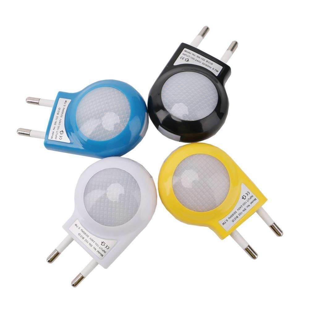 Мини-светодиодные улитки ночной свет автомобильный ночной ламп встроенный световой датчик контроль света настенный светильник для детей детская спальня ЕС / US