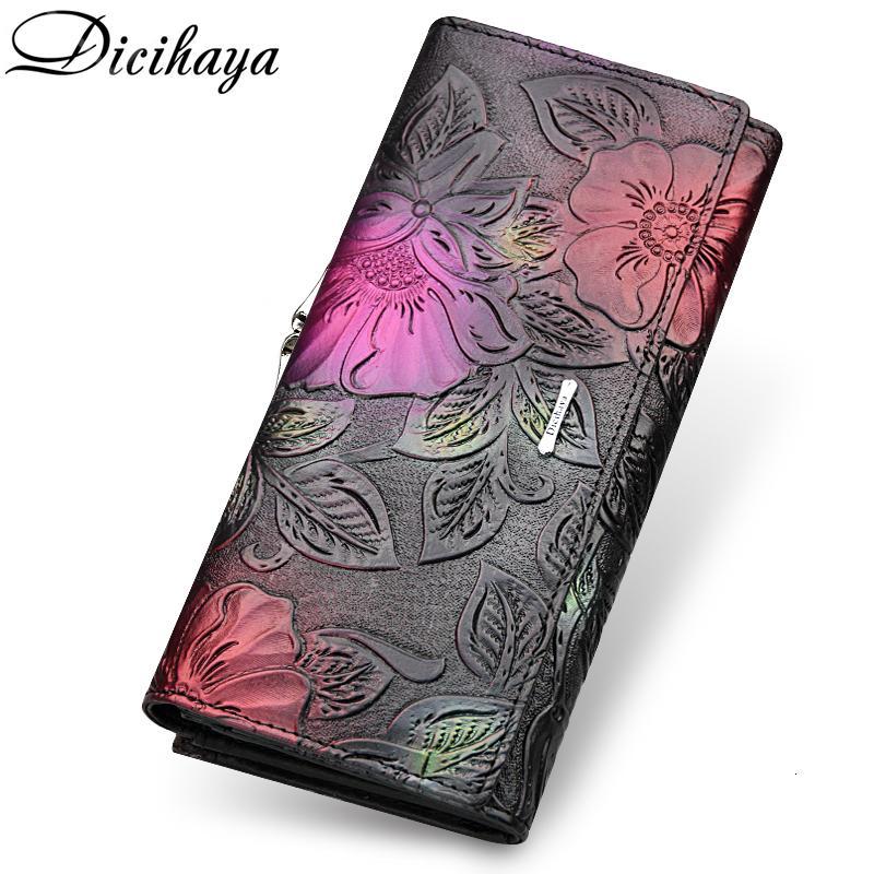 Сумка портфелей Dicihaya 2020 Узнать держатель карты длинный роскошный дизайн огня качества женщины высокий кошелек мода сцепление женской реальной NWVLJ LFIAF