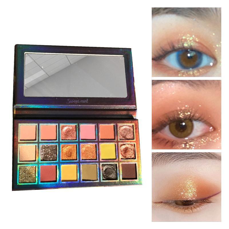 Göz Farı Göz Farı Paleti 18 Renkler Makyaj Karanlık Gece Glitter Mat Sedefli Püresi Patates Pullu Su Geçirmez Uzun Ömürlü
