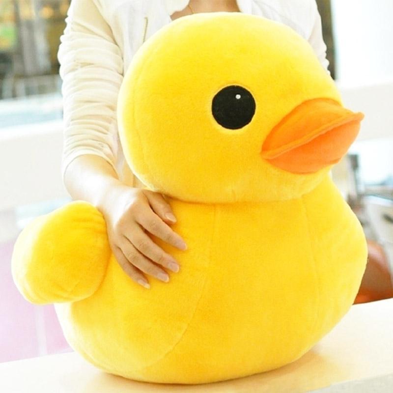 30-50cm Gefüllte Puppen Gummi Hongkong Große gelbe Ente Plüsch Tier Baby Spielzeug Heißer Verkauf Bestes Geschenk für Kinder Mädchen Freunde 201027