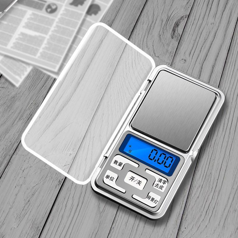Dijital Cep Terazi Taşınabilir Gıda Mutfak Ölçeği Mini Pişirme Ölçeği Dijital Ağırlık Gramlar Doğruluk 0.01g Kapasiteli 500g MY-INF0639