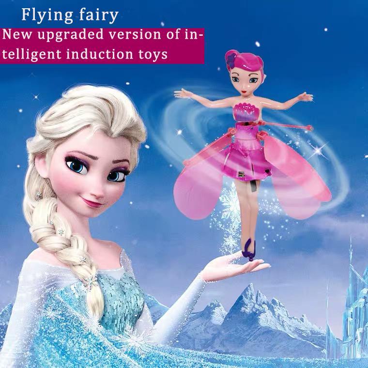 Juguetes para niños Sensación inteligente Hada flotante Resistente a la caída Suspensión de la suspensión Muñecas de inducción de la descompresión flotantes Chicas juguetes GI infantil
