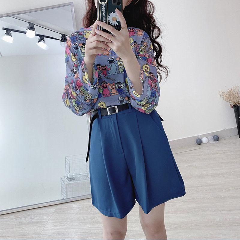 Frauen Sommer Shorts Damen Solide Baumwollmischung Button Skinny Casual Mode Knielange