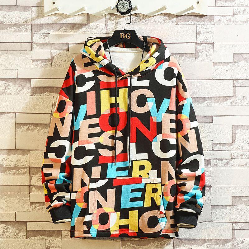 Печать высокого качества моды Толстовки и свитера 2019 Мужчины Весна Осень Одежда Плюс Азиатский размер M-5XL C1116