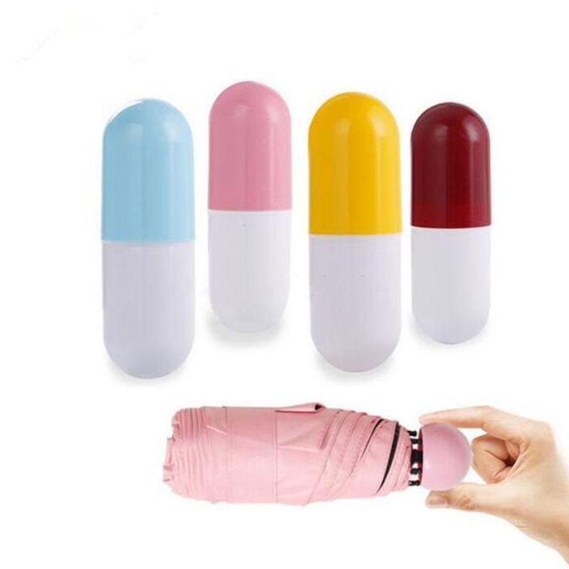 4 ألوان المحمولة كبسولة جيب مظلات مصغرة دليل قابلة للطي مظلة بلون المظلة الإبداعية هدية
