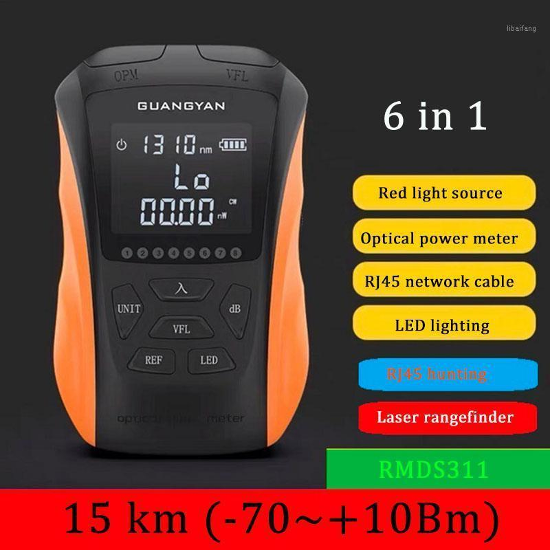NEW 2020 6 in 1 Multifunction Optical Power Meter Visual Fault Locator Network Cable Test optical fiber tester 5km 15km VFL1