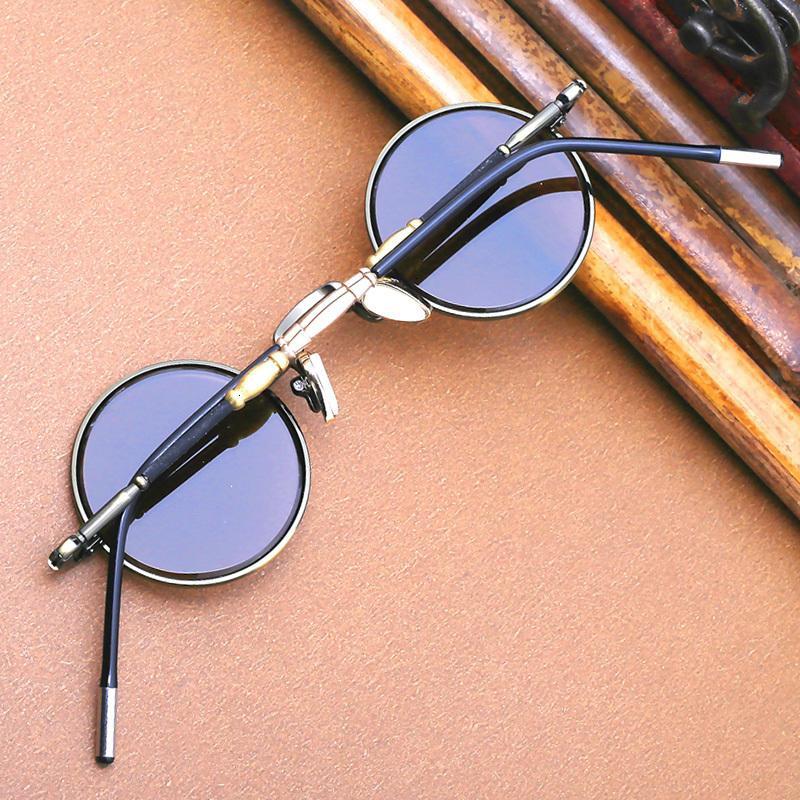 Маленькие круглые солнцезащитные очки очки мужская титановая рамка стимпанк винтаж панк ретро женщин леннон очки TCNZ