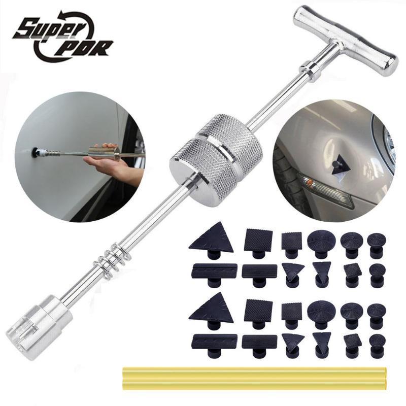 Профессиональные наборы инструментов для ручного инструмента PDR Инструменты беззаборный ремонт ремня сведящий молоток обратный съемник присоски присоски вкладыши присоски вкладки