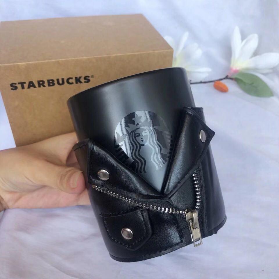 2021 Starbucks Drinkware Yaratıcı Seramik Basit Ofis Kahve Kupa Ile Deri Kollu Ve Baba Hediye Ile
