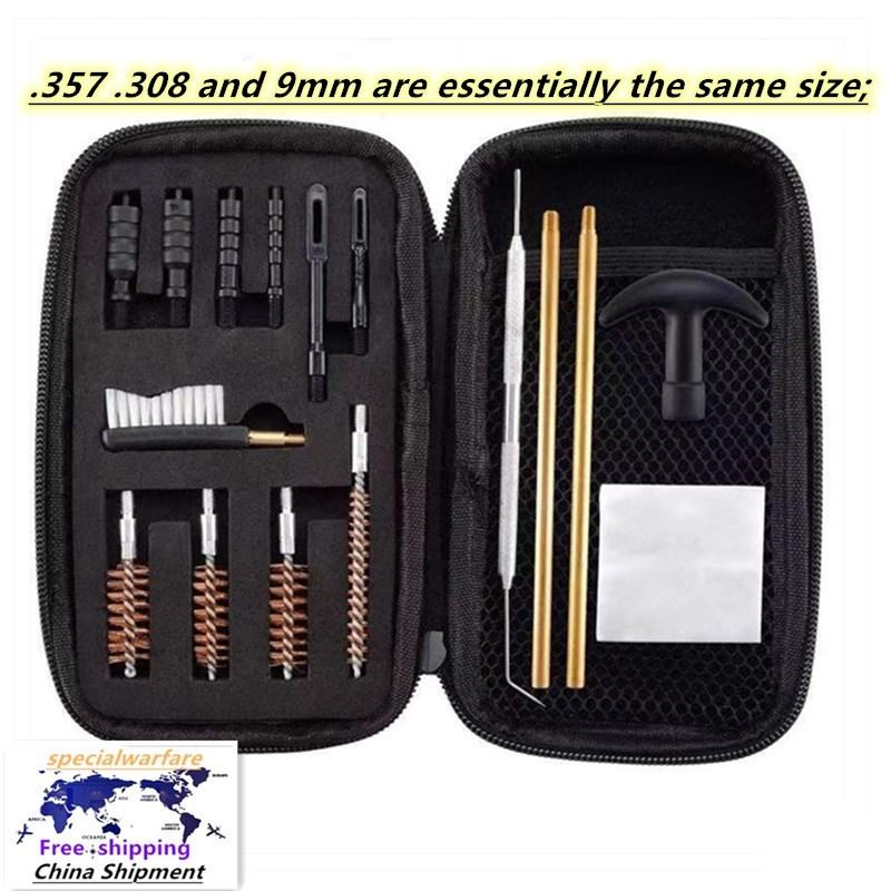 .357 .308 e 9mm universale tubo multifunzionale Dragatura della spazzola nylon, pennello per la pulizia del barile