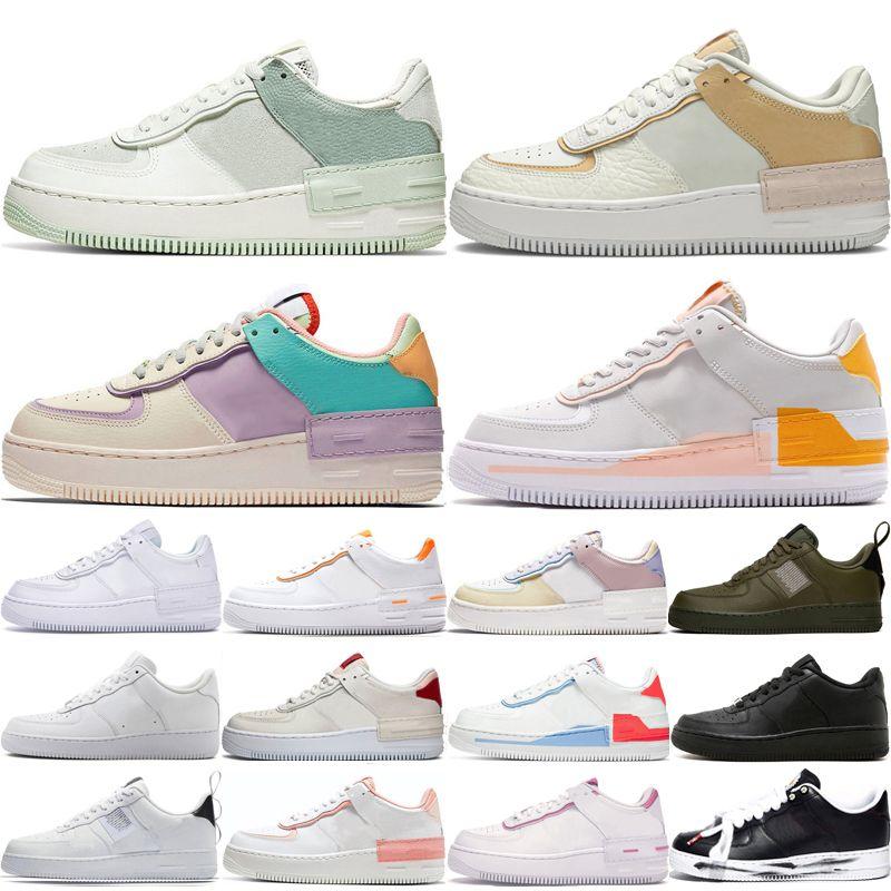 nike air force 1 Force one 1 Af1 más nuevos hombres altos mujeres blanco trigo uno zapatos malla uno para mujer diseñador de deporte zapatillas