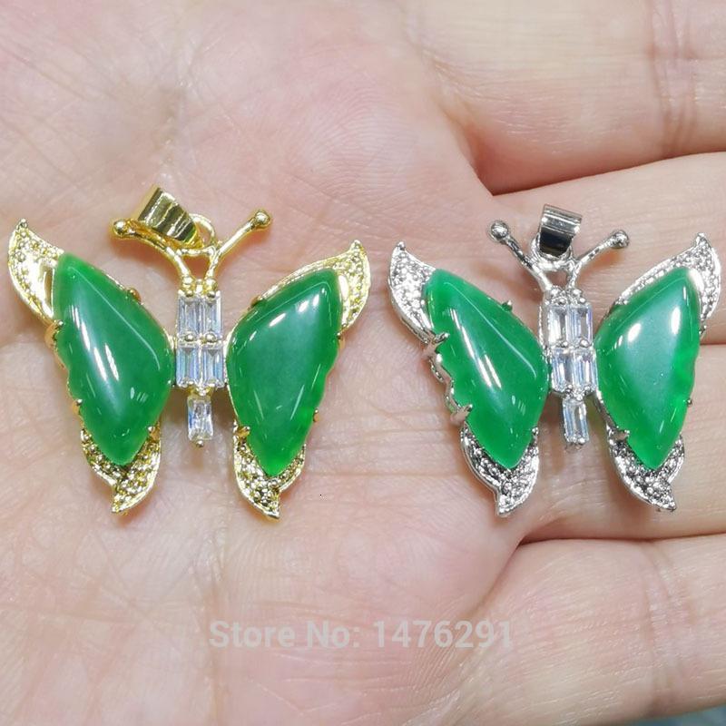 Neue prächtige 30x32mm grüne Jade Flyer Zirkoon Aufhänger Beste Geschenk 1 stücke