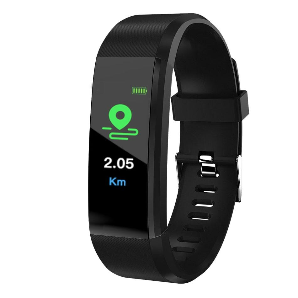 ID115 Artı Akıllı Bilezik Spor Tracker Akıllı Adımsayar İzle Nabız İzle Band Akıllı Bileklik için iphone Android Cep telefonları ile Kutusu