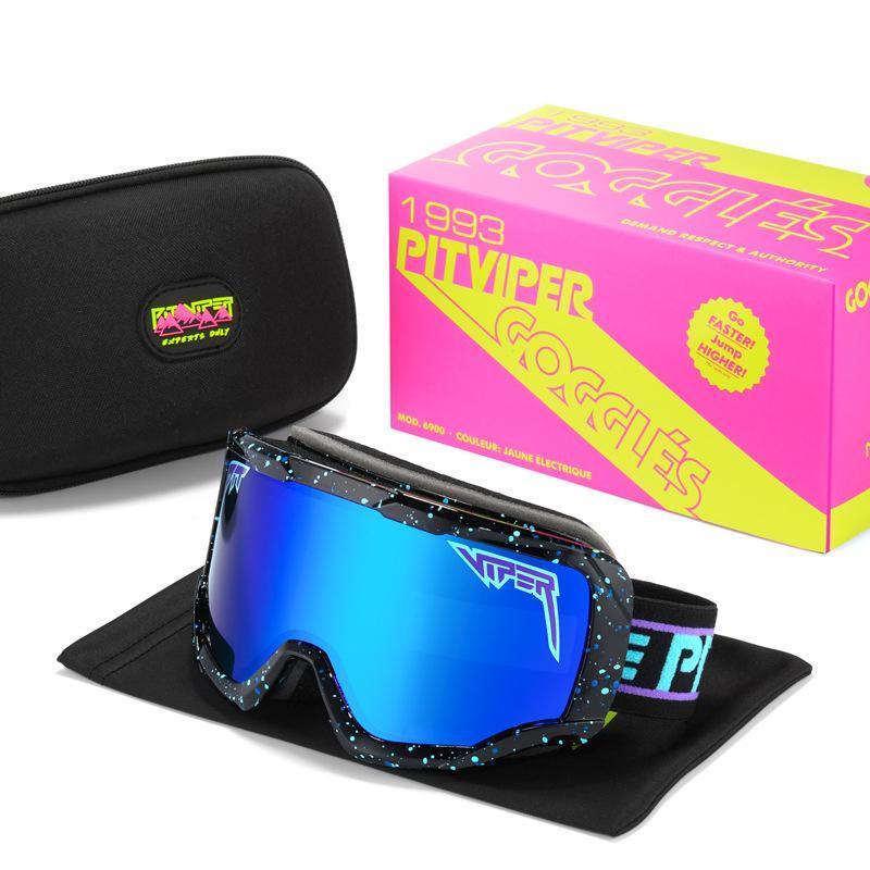 Hareketi Viper Windproof Kadınlar Sürücü Anti-Sis Koruma Gözlük Gözlük Çerçevesi Büyük Kış Pit UV400 Adam Gözlük Güneş Gözlüğü LSQJH