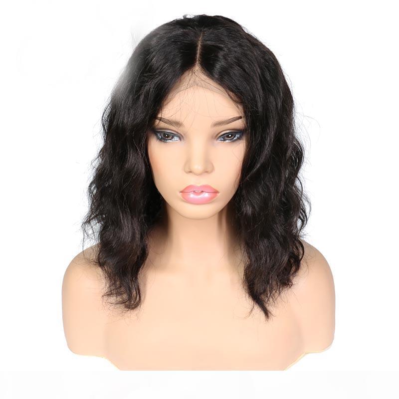 Девственные волосы прозрачные кружева парик боба нарезанные с детским волосами Perpluked HD Lacefront человеческие волосы короткие волнистые боб парики для черных женщин