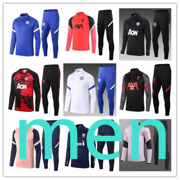 2020 new designers tracksuits mens men s soccer tracksuit football training Chelsea Manchester United Leeds City Liverpool man utd survetement chandal