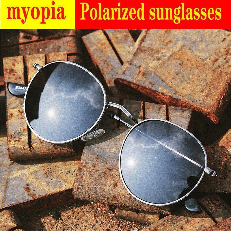Güneş Gözlüğü 2021 Diyoptri Bitmiş Miyopi Polarize Erkekler Kadınlar Yakışıklı Gözlük Moda Kare Erkekler Sürüş Gözlük UV400 FML