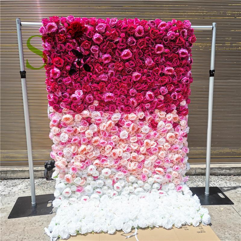 SPR adjustable metal flower wall backdrop stand quality event wedding aluminum