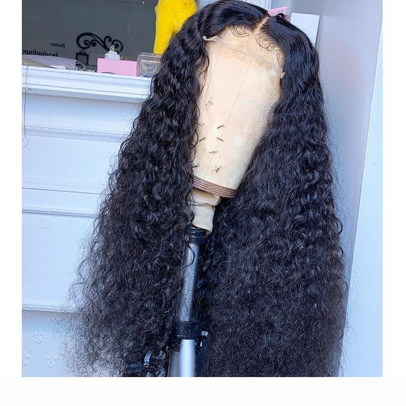 Parrucca del 100% dei capelli umani parrucche piene del merletto brasiliano con i capelli del bambino Kinky ricci 13x6 parrucca anteriore del pizzo per le donne nere