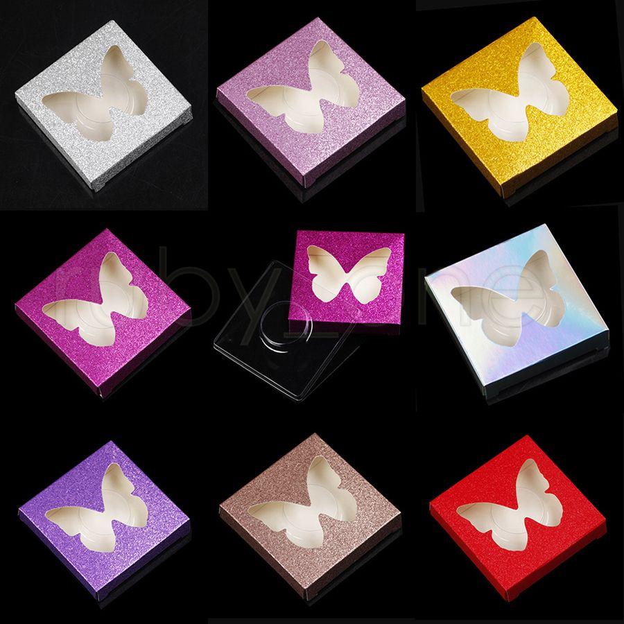 3D Mink Eyelash Package Boxes False Eyelashes Packaging Empty Eyelash Box Case Creative Butterfly Shaped Lashes Box Packaging RRA4084