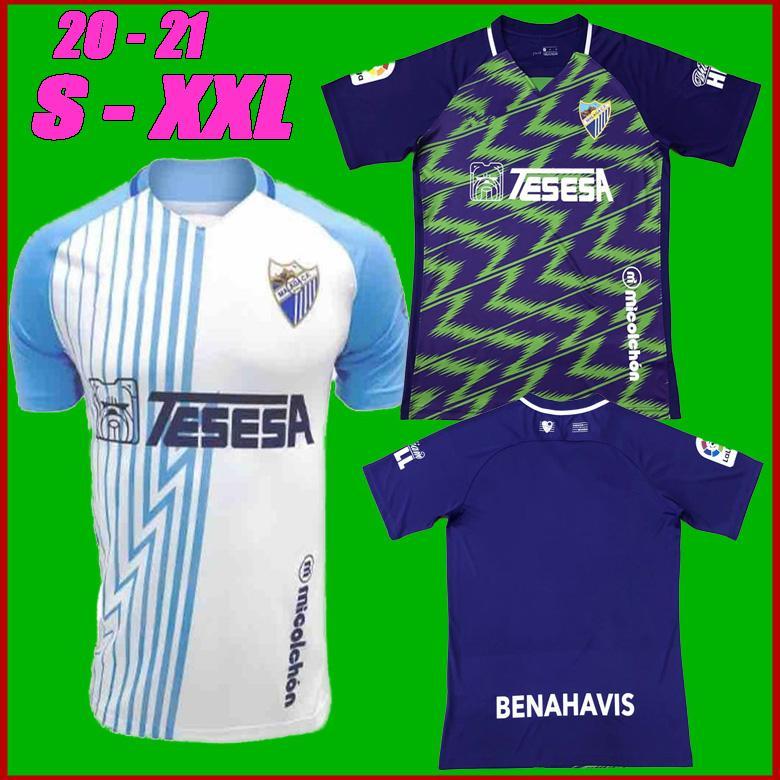 20 21 Malaga Futbol Formaları Málaga 2020 2021 K. Çıplak Juanpi Adrian CF Futbol Gömlek Juankar Camiseta De Fútbol Juande Mens Hombres Üniformaları