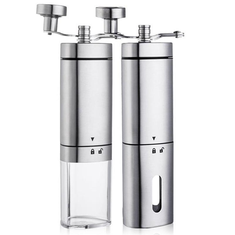 Manual Coffee Grinder Stainless Steel Adjustable Coffee Bean Nuts Mill with Safety Bolt Easy to Clean KIitchen Tools