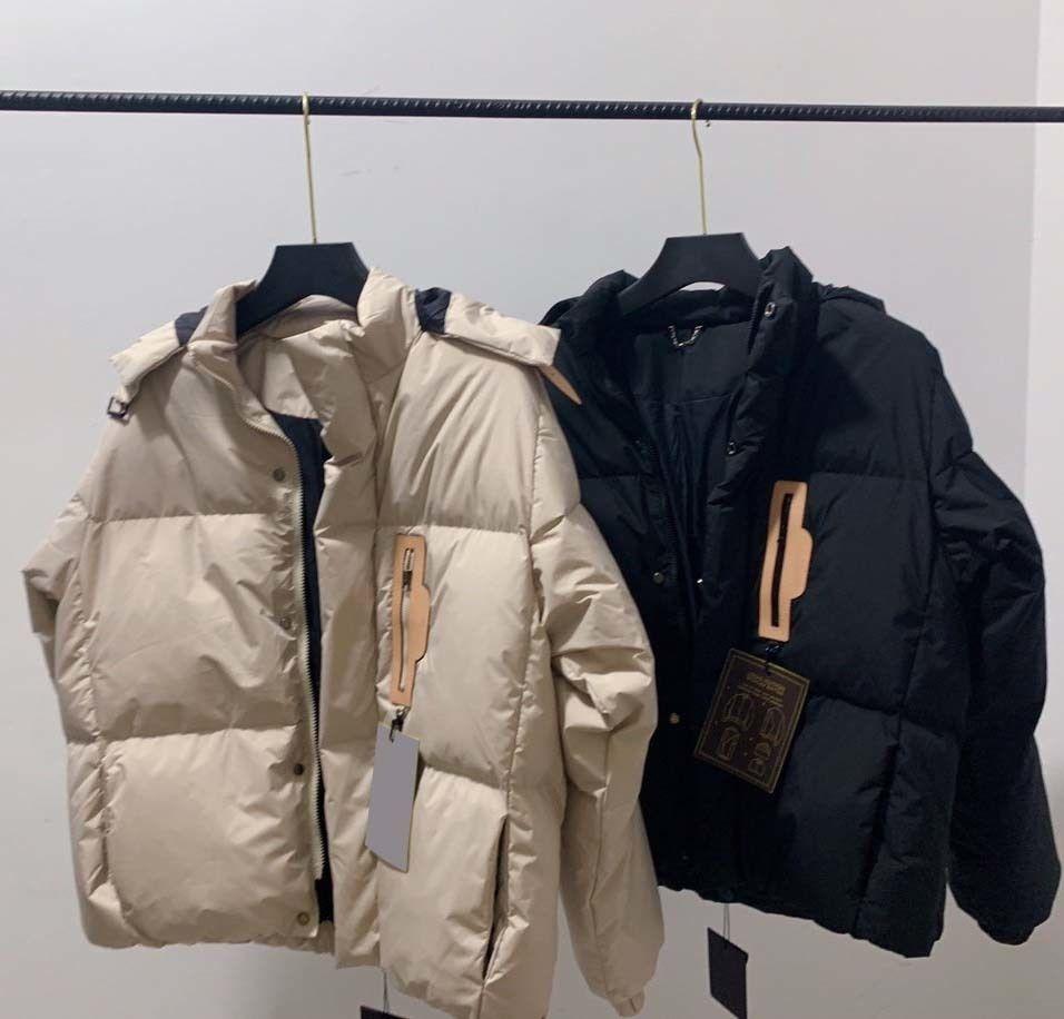 Designer Parkas Top Quality Hooded Winter Cappotto caldo Moda donna Giacca Black Beige Colour con etichette Dimensioni 44-50 Top Quality