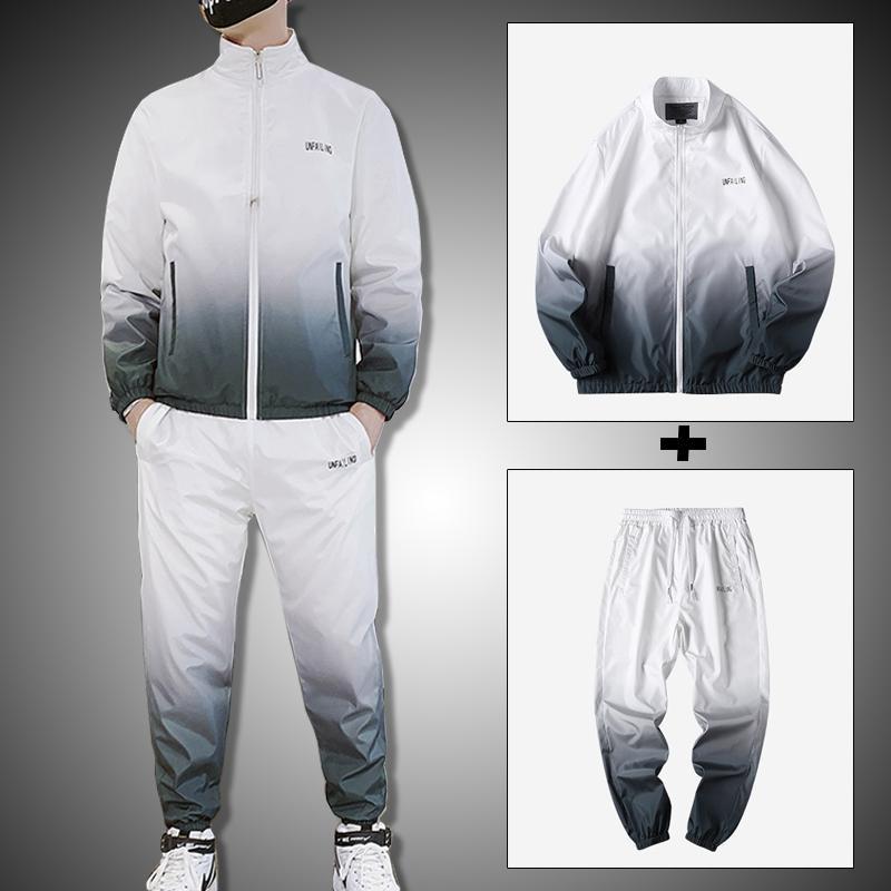 Hommes Tracksuit Tracksuit 2020 NOUVEAU HOMMES Vêtements Ensemble 2 pièces Sweat Support Men Streetwear Veste et Pullpants Set de jogging masculin LJ201125
