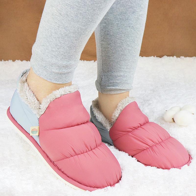Chinelos Inverno Feminino Casa Sapatos Pelcia Senhoras Kaydırıcılar Pele İç Chinelo Femme Warterproof Pantuflas de Mujer
