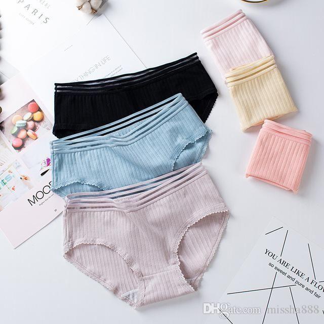 Новые японские девочки чистое хлопковое нижнее белье маленькие, свежие, простые и дышащие женские трусы с иглой нарисованные рыбы шелковые женщины