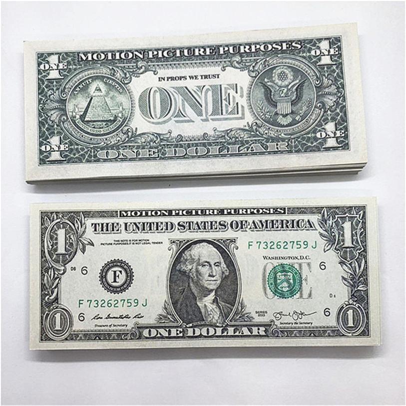 100 teile / pack neues design 2021 bar party banknoten dollar kopie banknoten großhandel realistisch vorgeben Geldpapier A8