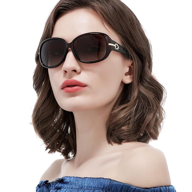 Simuey 2020 Fashion Womens Oversized Classic Ladies Elegante occhiali da sole Driving Occhiali da sole 100% Protezione UV