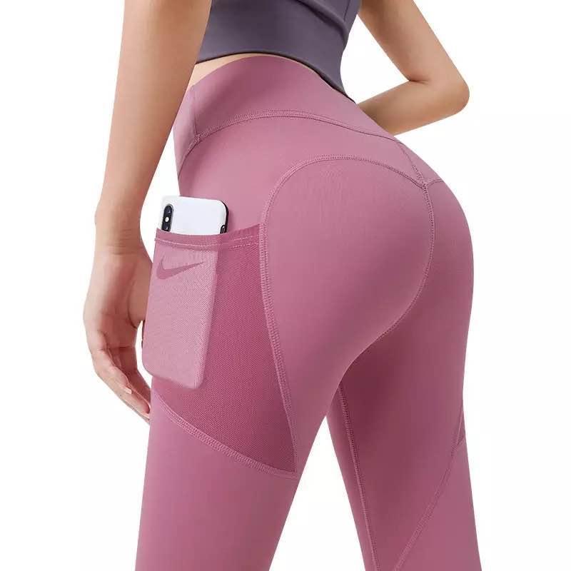 Calças de ioga com bolsos Gym Scrunch Leggings Esporte Roupas de Fitness Leggins para Mulheres Roupas Basculadores Sweatpants Alto Cintura Spor