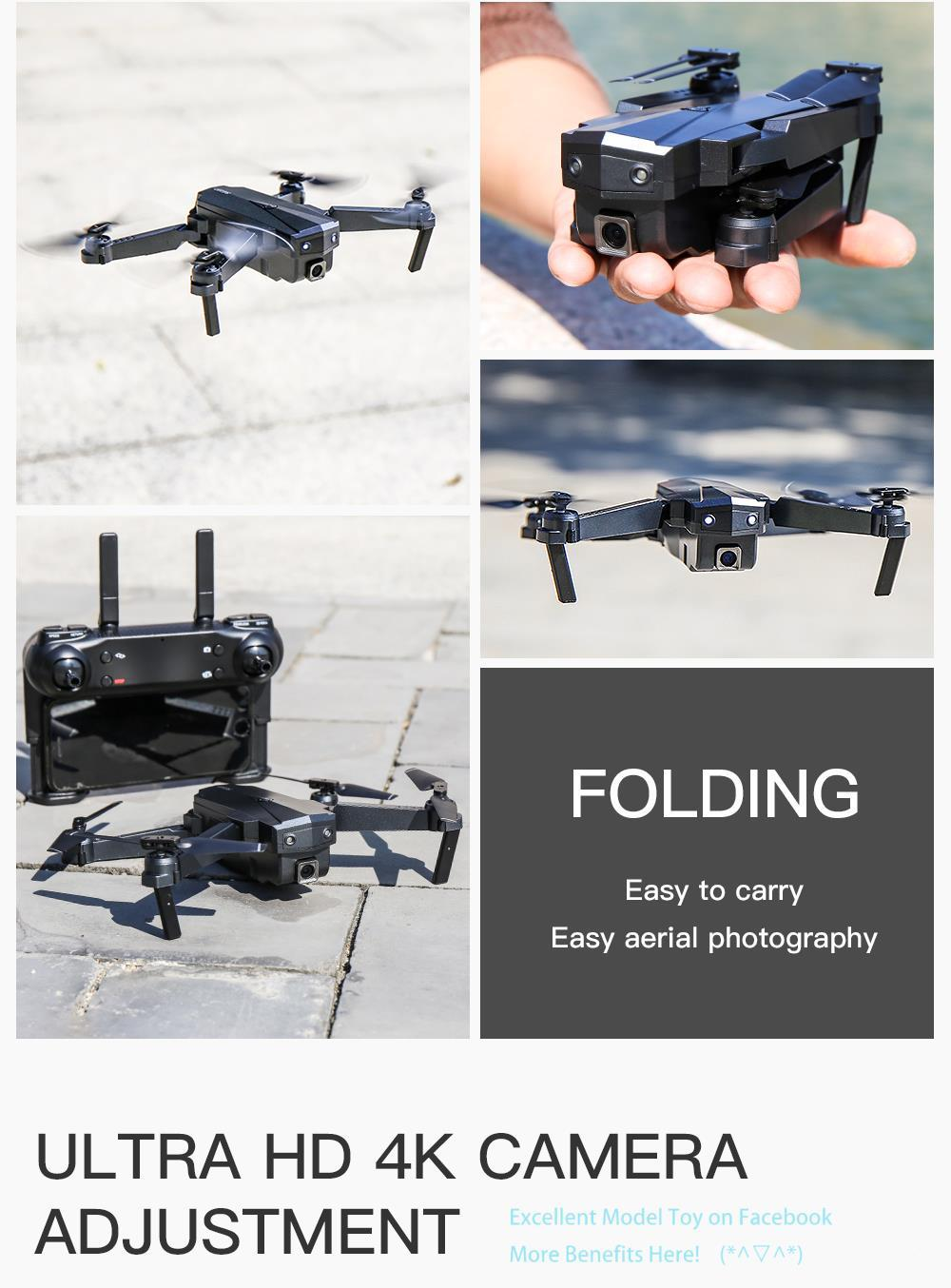 SG107 4K Double Camera Wifi FPV Anfänger Drohne Kid Spielzeug, Optische Fließpositionierung, Höhe Halten Sie intelligente Folge, Geste nehmen Foto, verwenden Sie