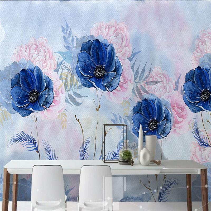 HD Luxury Flowers Wallpapers 3D Wall Murales Fondos de fotos para la sala de estar Sofá TV Fondo Fondo Papeles Decoración para el hogar Dormitorios