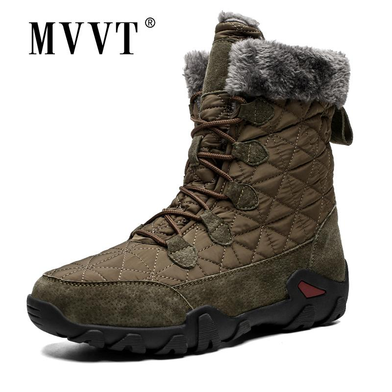 Plus Size Echtes Lederstiefel Männer Schneeschuhe Outdoor Super Warme Winter Männer Stiefel High Mid-Calf Halten Warme Botas Hombre 201215