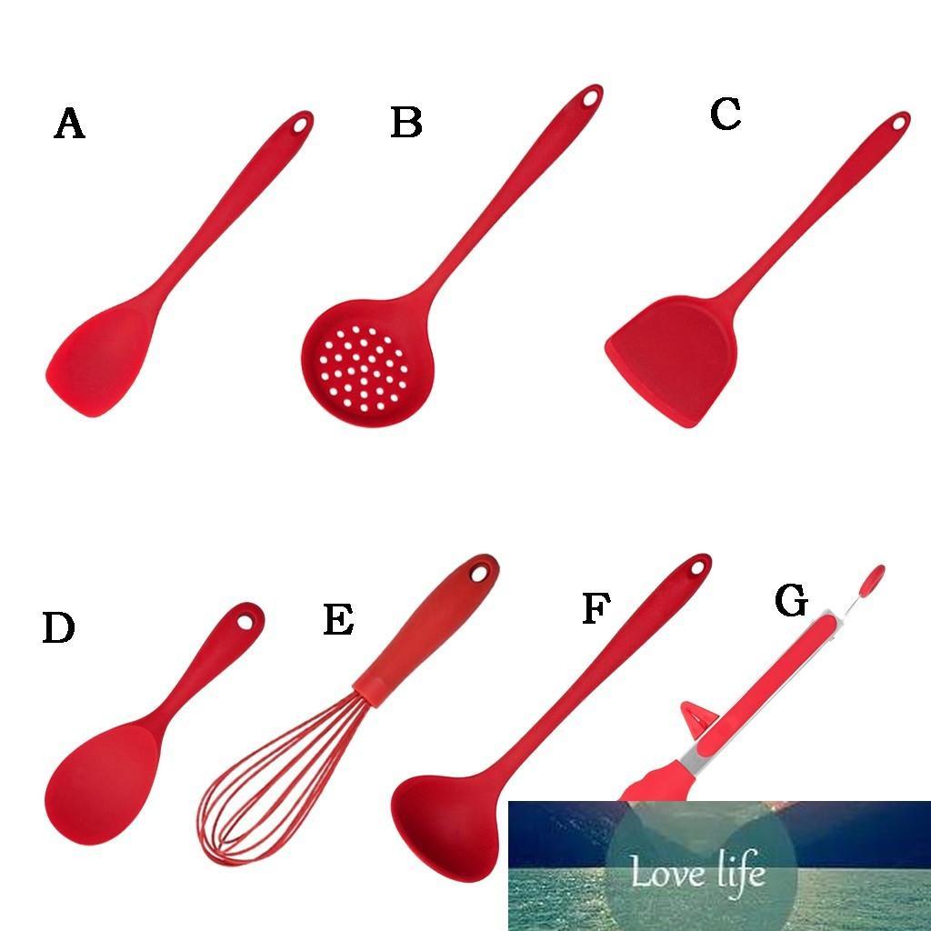 1pc Silicone Utensilios de cocina Turner Soup Spoon Spatula Cepillo Scaper Pasta Server Egg Beater Cocina Herramientas de cocina Utensilios de cocina