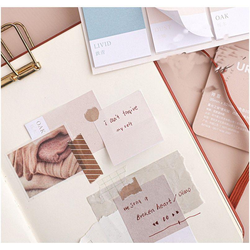 Mohamm Roue de quatre couleurs Série Kawaii Mignonne Sticky Notes Memo Tampon Papeterie Papeterie 80pcs F Bbyquh