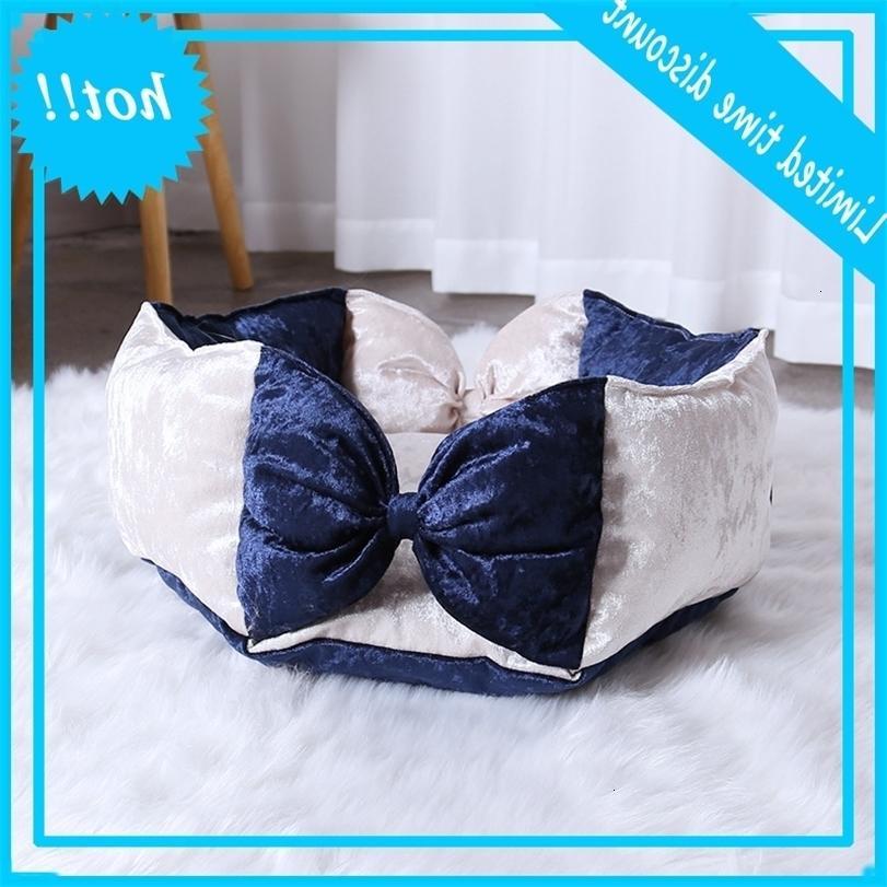 Cane Camas Para Mascota ad alta elasticità Nido rotondo di carino arco principessa letto pet letto piccolo adatto per quattro stagioni