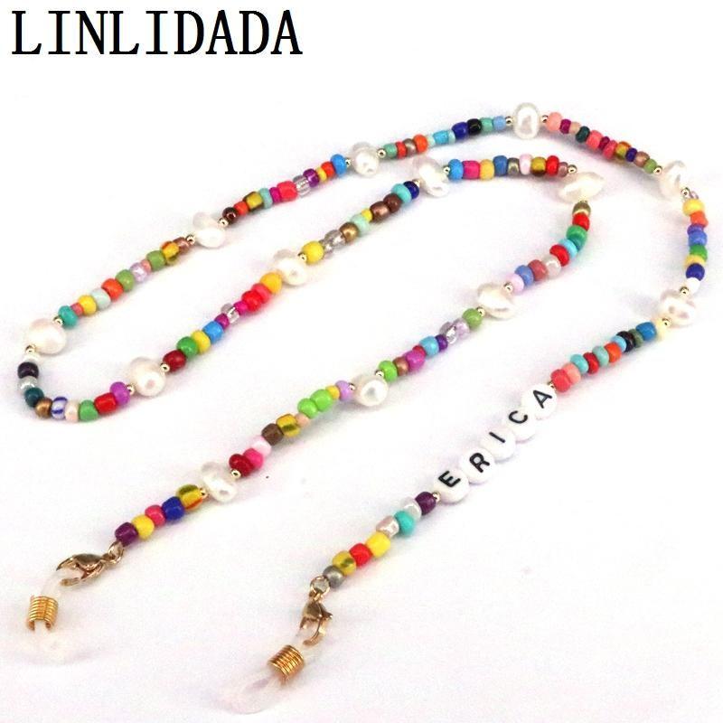 Цепи Мода 5 шт., Красочные Crystal Beat Crystal Greates Строка цепи шеи для очков бусины ожерелье солнцезащитные очки шнур веревкой ремешок